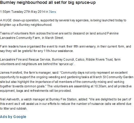 2014 May 27 Burnley neighbourhood all set for a big spruce-up.jpg