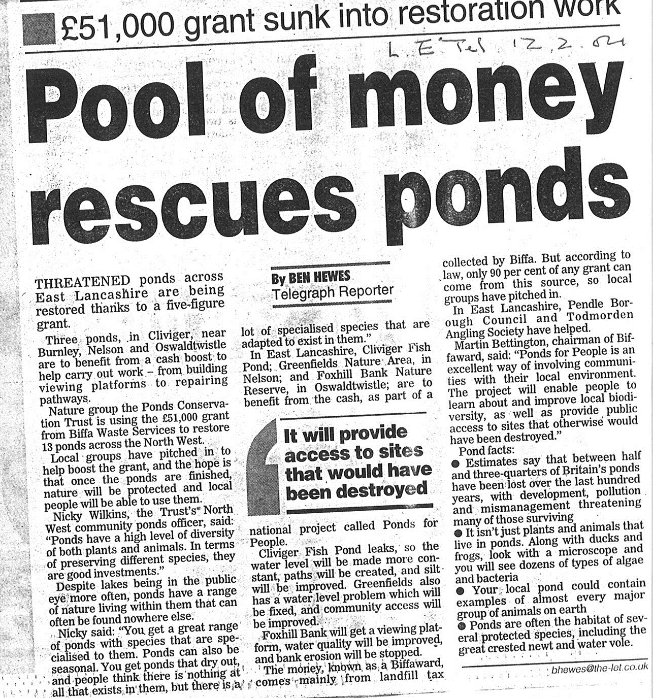 2004 Feb 12 Pool of money rescues ponds.jpg