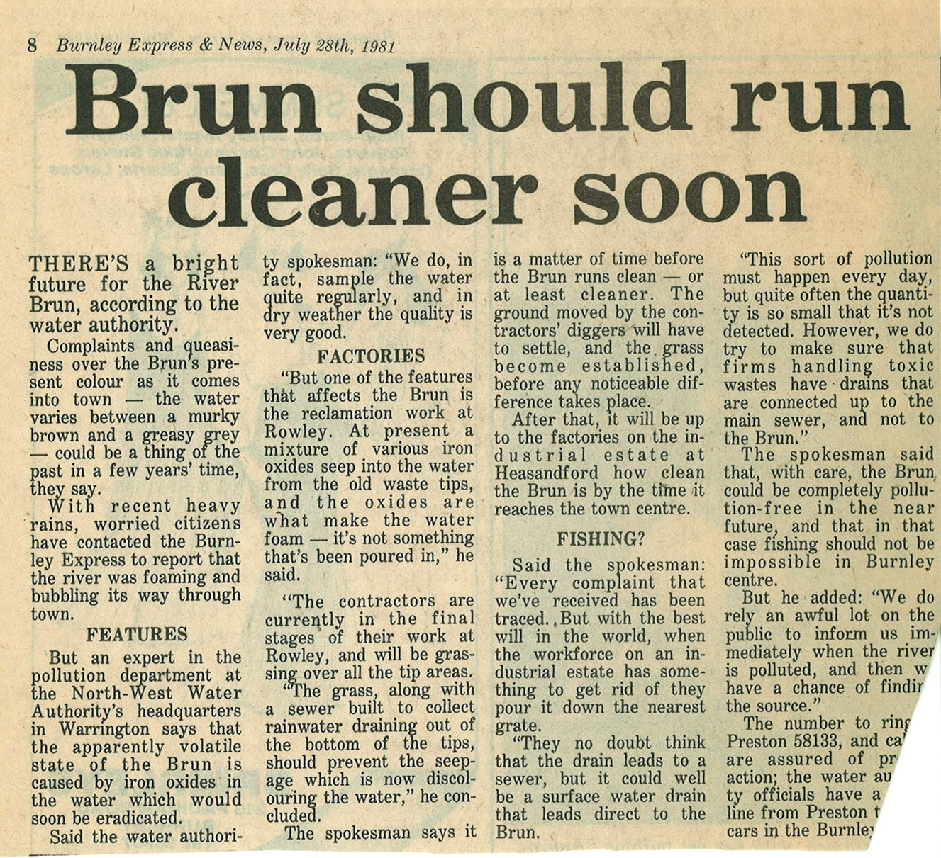1981 July 28 Brun should run cleaner soon.jpg