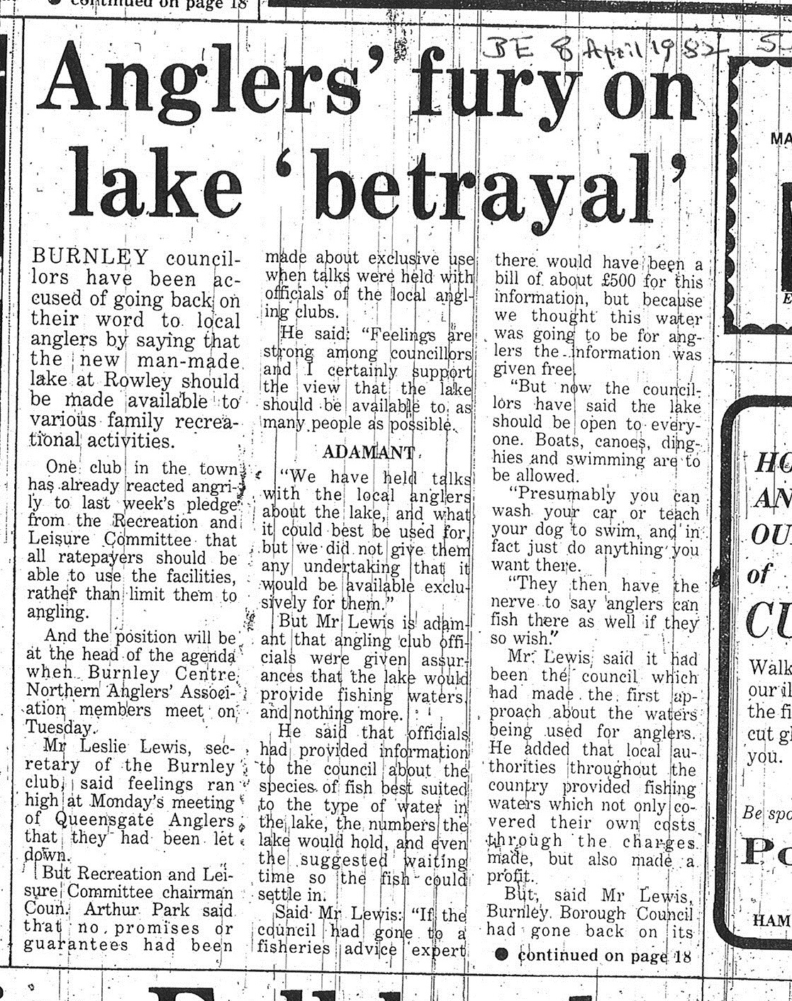 1982 April 8 Anglers fury on lake betrayal.jpg