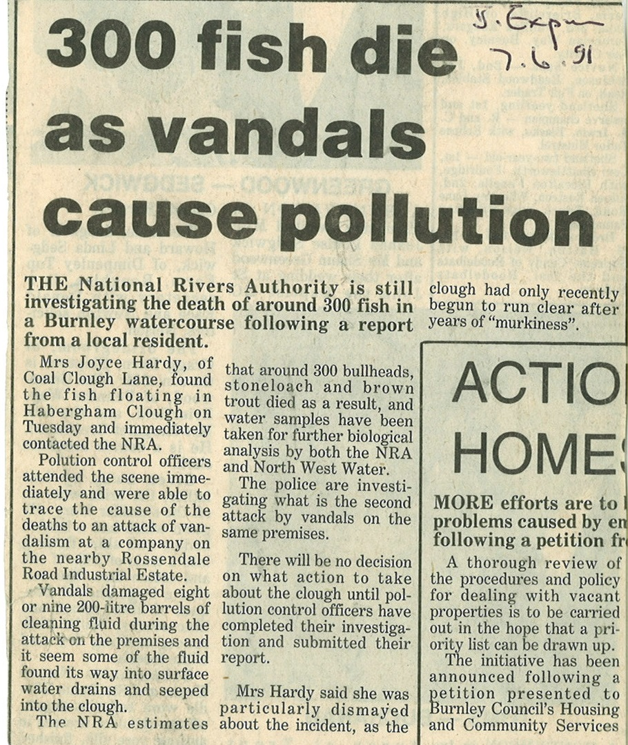 1991 June 7 300 Fish Die as vandals cause pollution.jpg