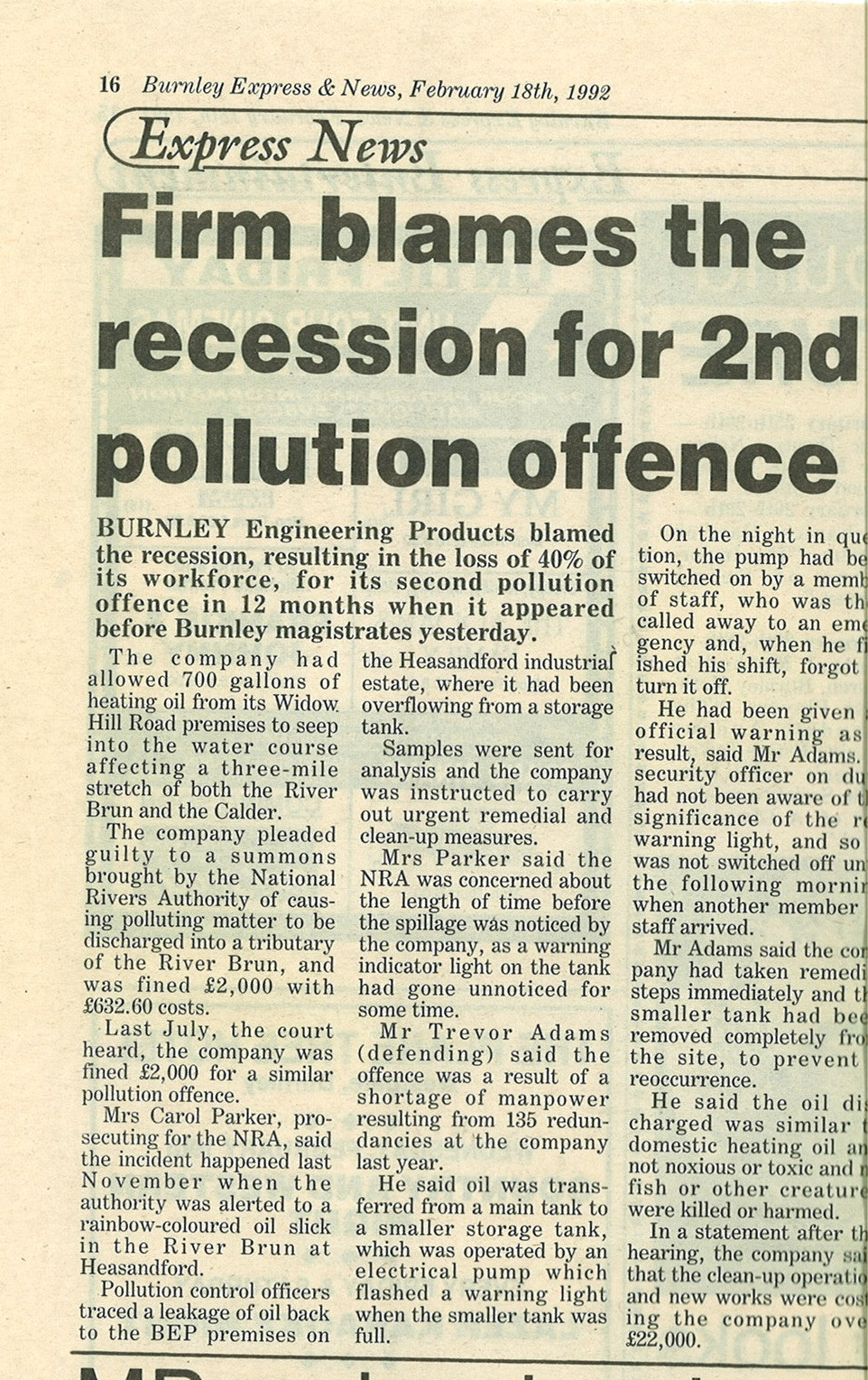 1992 Feb 18 Firm blames recession for 2nd pollution offence.jpg