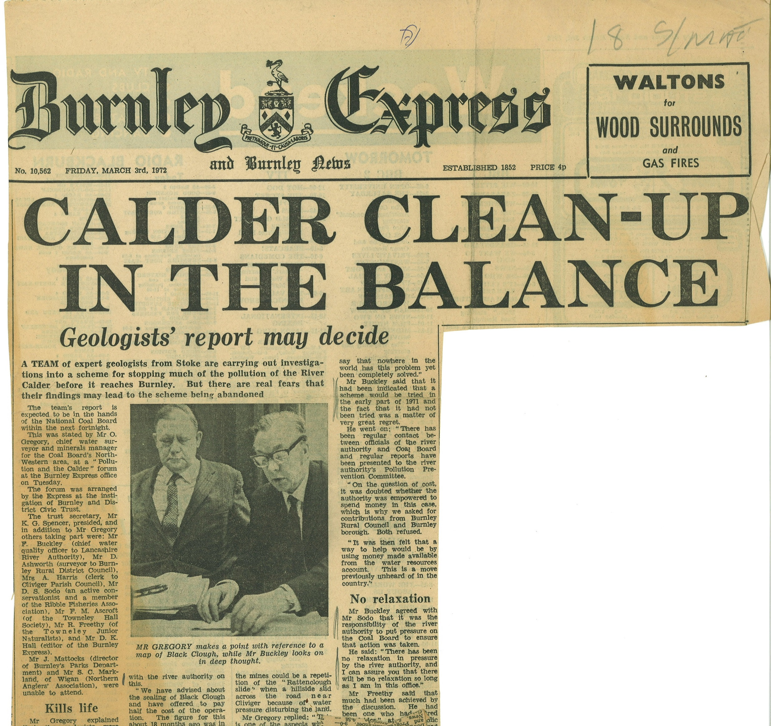 1972 March 3 Calder Clean-up in the balance Geologist report may decide.jpg