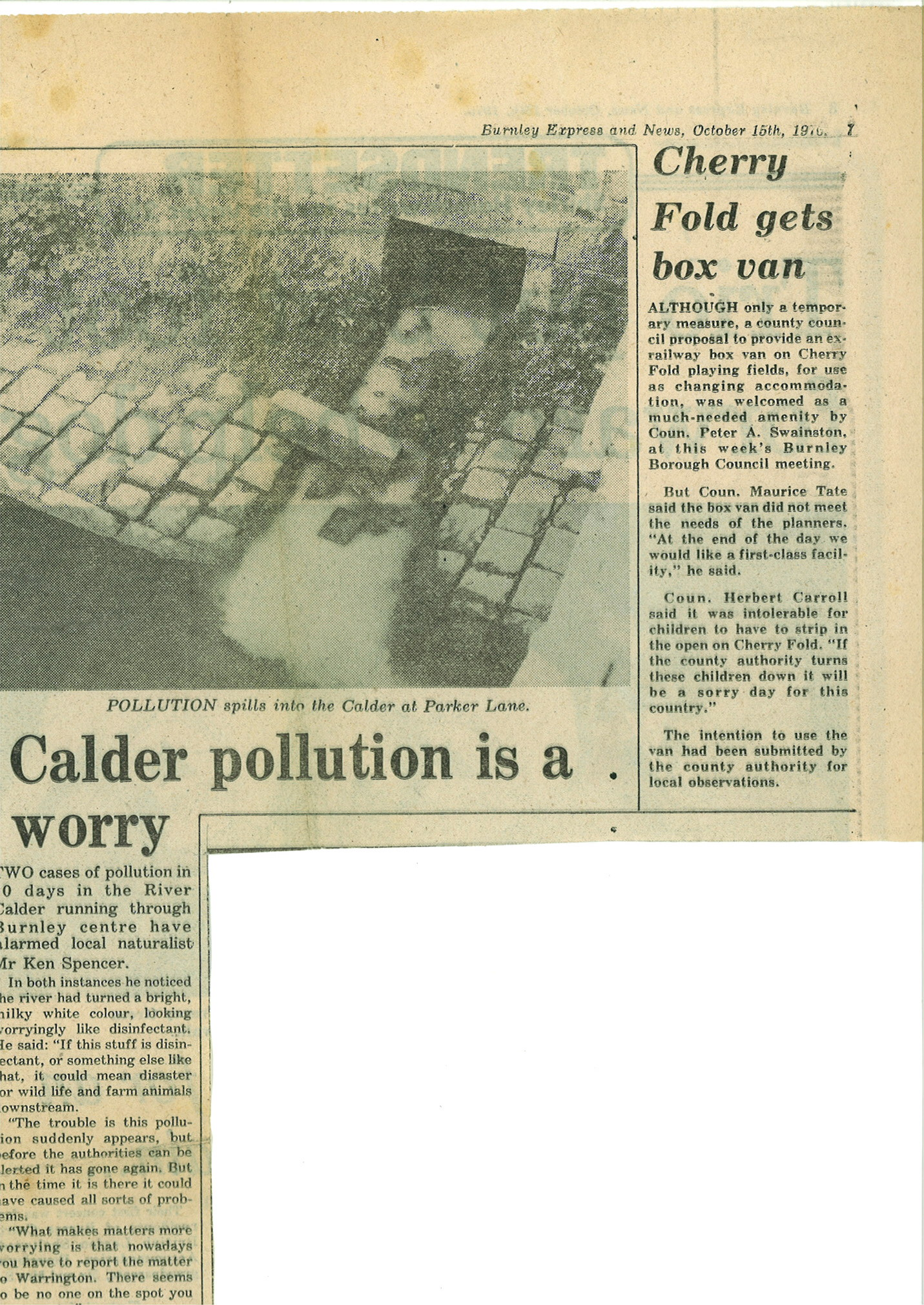 1976 October 15 Calder Pollution is a worry.jpg