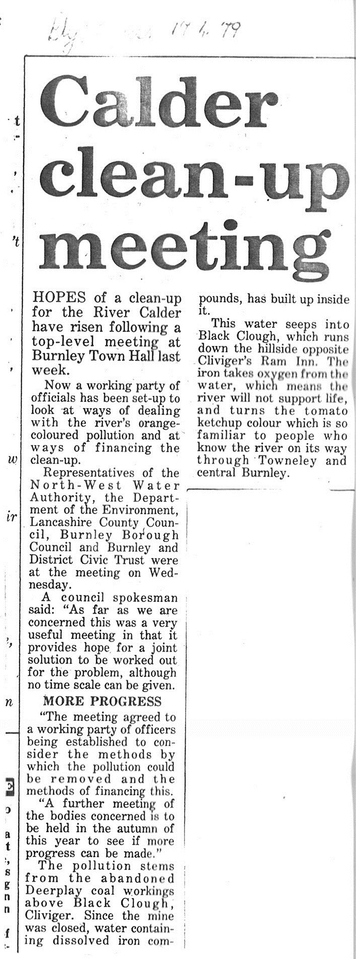 1979 April 17 Calder clean-up meeting.jpg