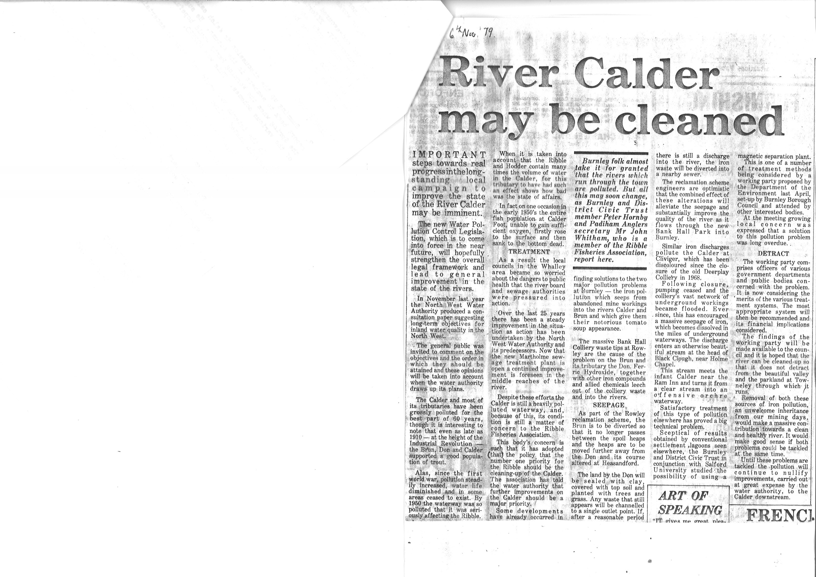 1979 Nov 6 River Calder may be cleaned.jpg